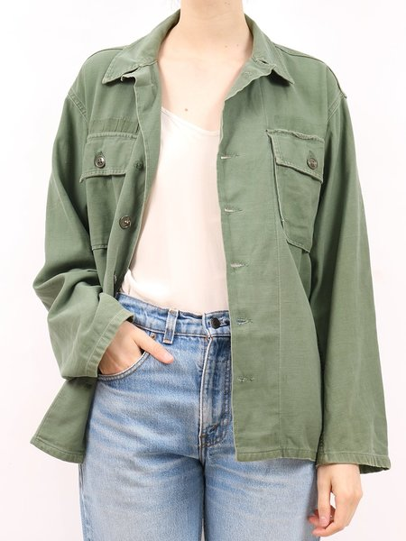 Vintage 1970's army 1 jacket - ARMY GREEN