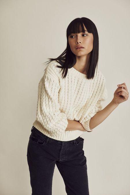 Line the Label Janie Sweater - Chalk