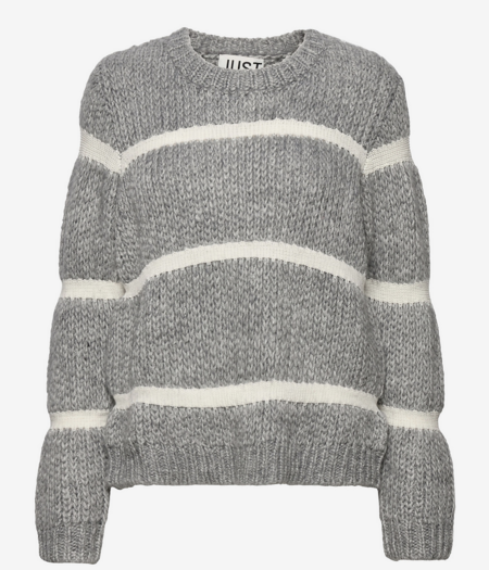 Just Female Roma Knit sweater - gray