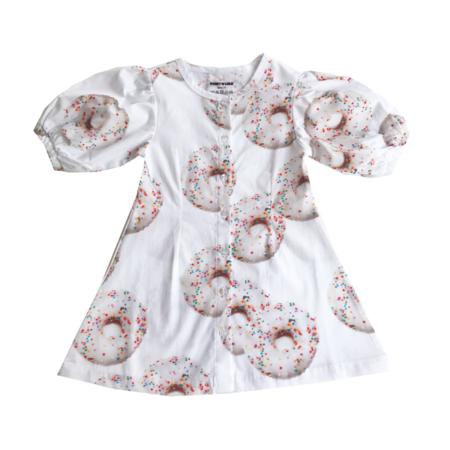 Kids Romey Loves Lulu Donuts Puff Sleeve Dress