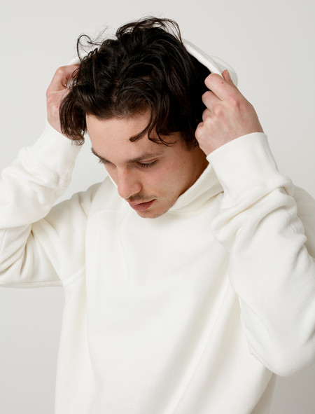 Childs Cut-Off Hoodie White