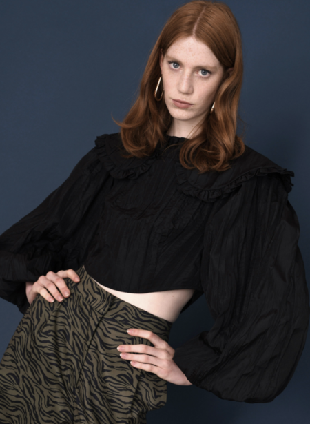 Sister Jane Volcanic Crinkle Cropped Top