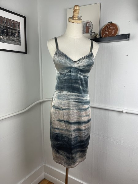 [Pre-Loved] Raquel Allegra Dyed Slip Dress - Gray Multi