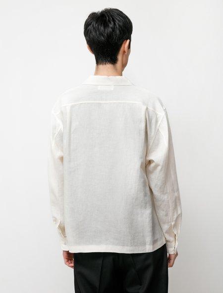 James Coward Workshop Shirt - Linen Silk Oyster