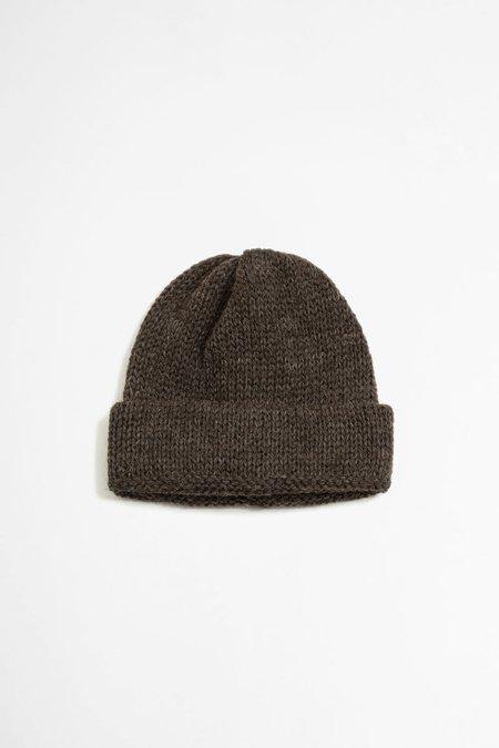 Universal Works Short watch cap - british wool brown