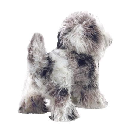 kids Folkmanis Shih Tzu Puppy Puppet toy - gray