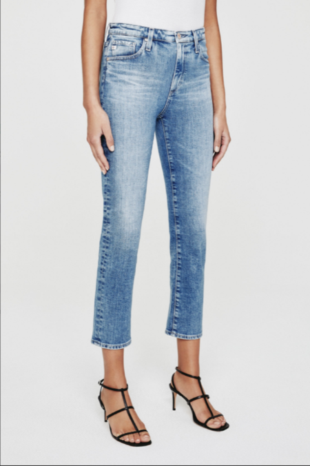 AG Isabelle High Rise Crop Jeans - Courtyard