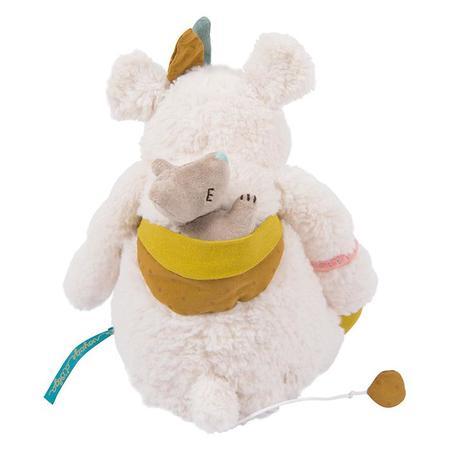 Moulin Roty Le Voyage D'Olga Pom The Musical Polar Bear Toy