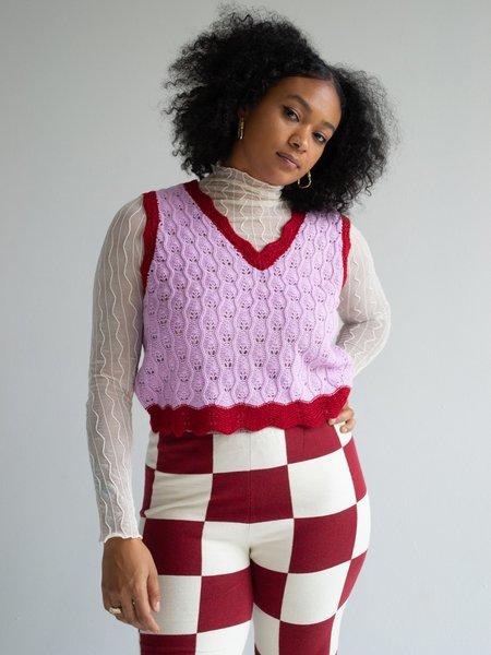 Find Me Now Knit Vest - Lilac