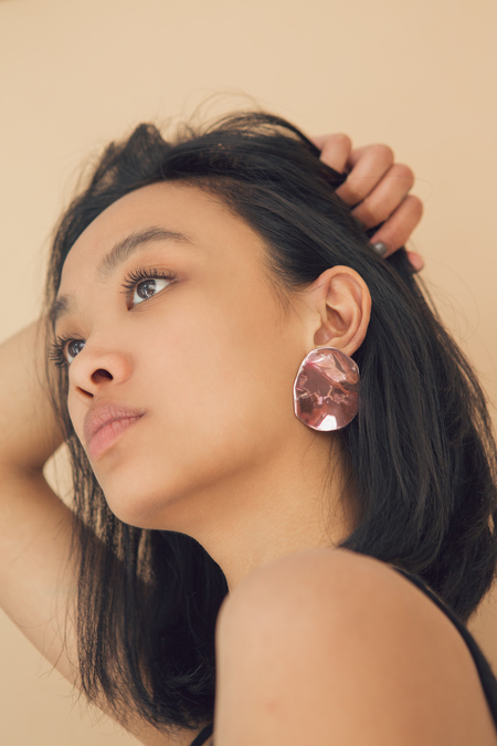 Julie Thevenot Puddle Earrings Pink