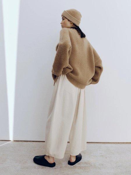Monica Cordera Shearling Cardigan - Camel