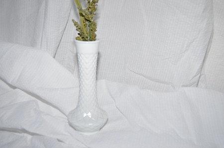 Clan of Cro VINTAGE Milk Glass Vase