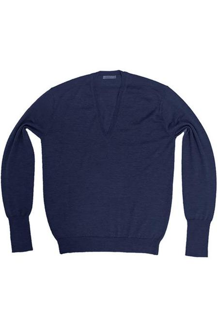 Perfect V-Neck Sweater-Blue