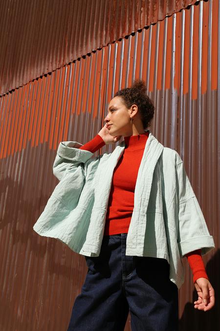 UNISEX Atelier Delphine Kimono Jacket - Blue Grass