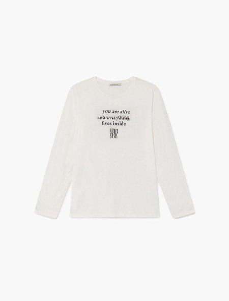 Paloma Wool Souvenir Universe Long Sleeve - Off-White
