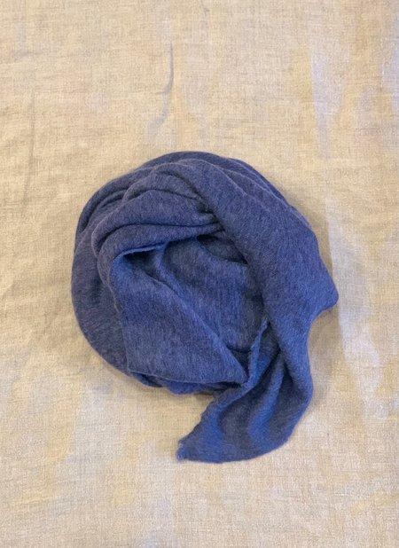 scarf 100% Italian Cashmere Jersey Shawl -Blue