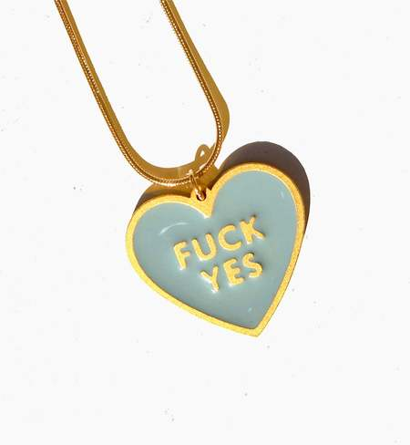 MATTER MATTERS Fuck Yes Necklace - Pea Green