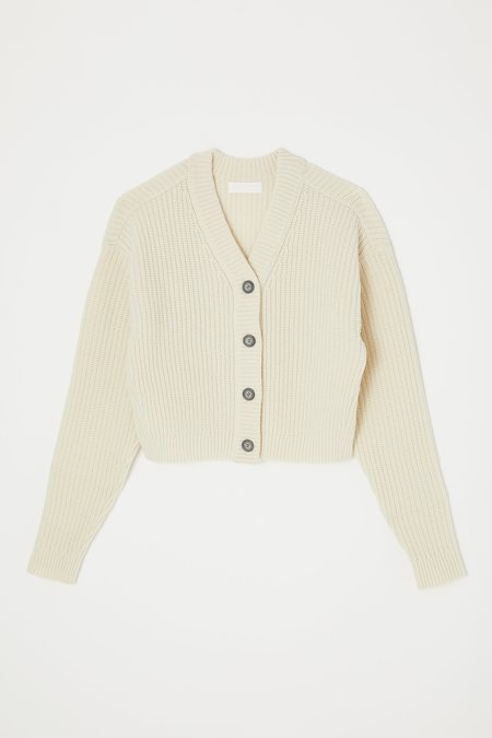 MOUSSY Off Persuasive Cardigan Sweater - White