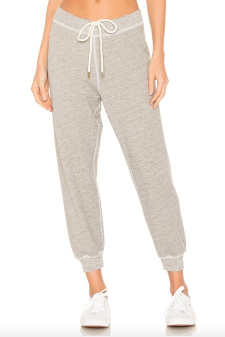 The Great. The Cropped Sweatpant - Grey