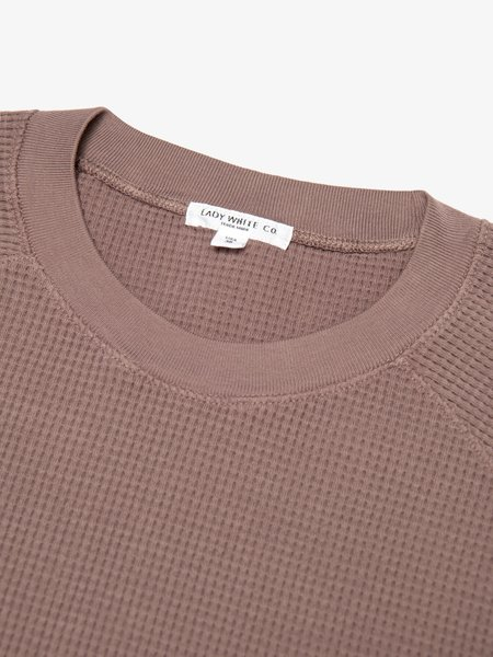 Lady White Co. Cropped Raglan Thermal - Roasted Plum