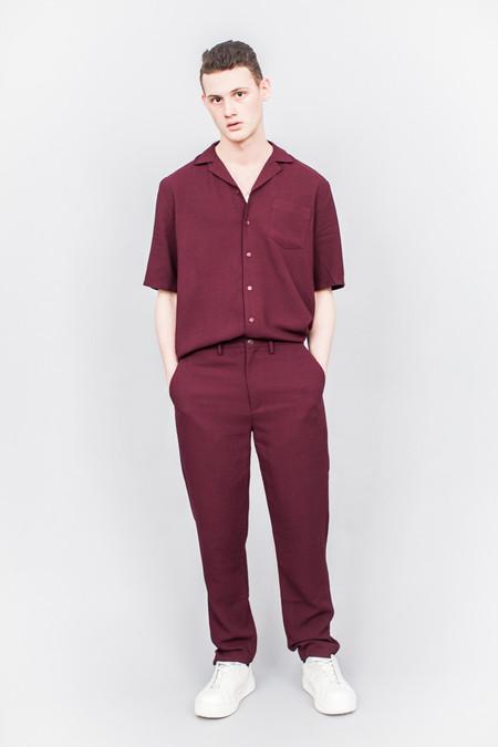 Séfr Séfr Sune Short Sleeved Shirt Red