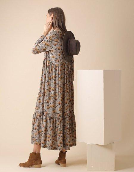 Indi & Cold Printed Jane Dress - Khaki