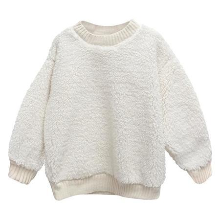 Kids Nico Nico Child Lazer Sherpa Sweatshirt - Snow White