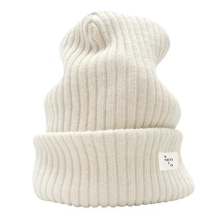 Kids Nico Nico Child Woods Ribbed Knit Hat - Bone Cream