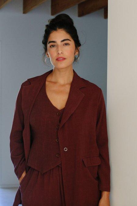 Rachel Pally Linen Brea Jacket - Redwood