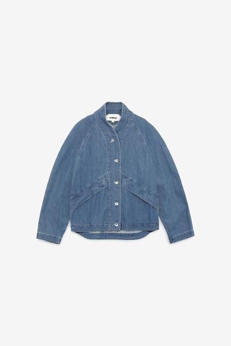 YMC Erkin Light Organic Cotton Jacket - Indigo Bleach