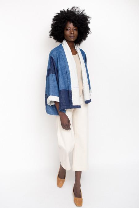 Atelier Delphine Kimono Jacket / Patchwork Indigo