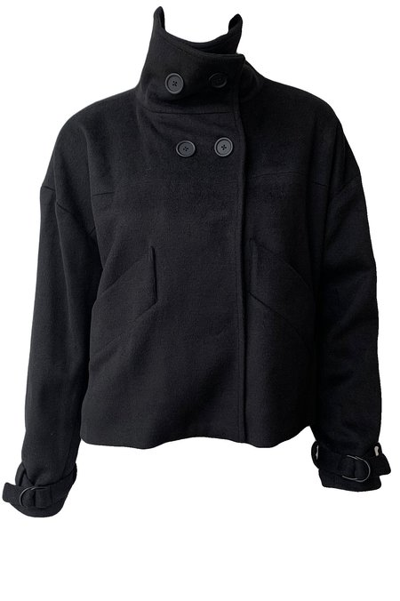 Emerson Fry Cozy High Neck Jacket - Black