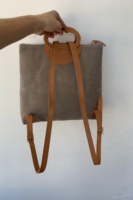 Clare V. Marcelle Backpack - Dark Grey Suede