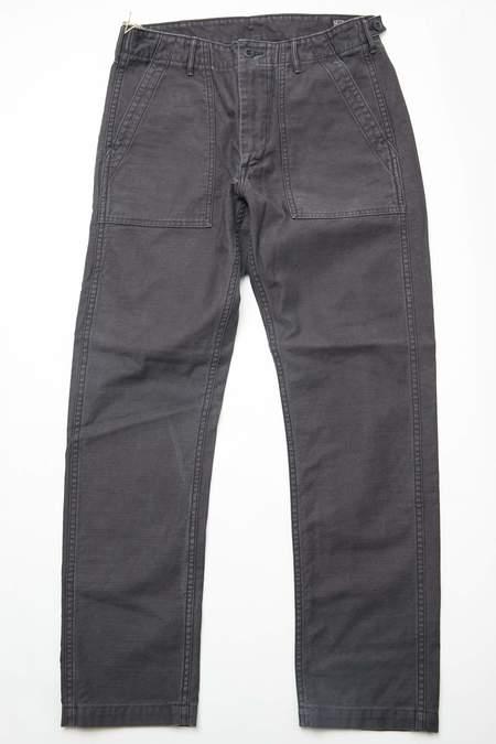 OrSlow Slim Fit Fatigue Pants - BLACK STONE
