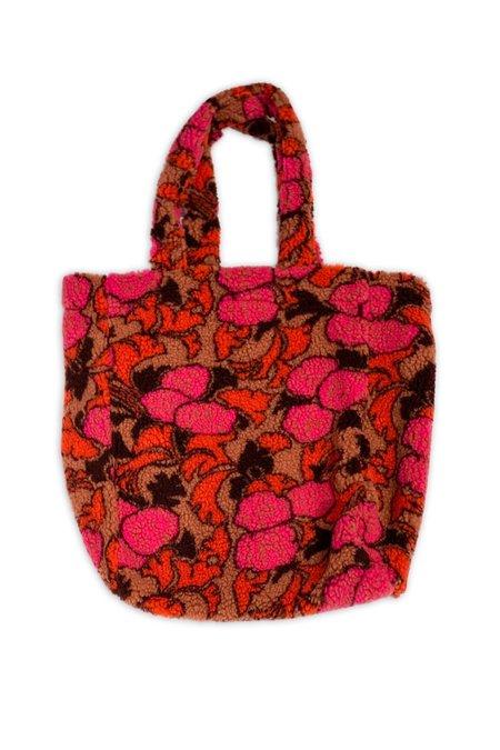 Anna Sui Suspira Roses Fleece Tote Bag - BLACK MULTI