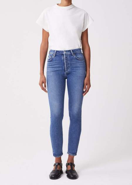 Nico High Rise Slim Fit in Betray-Blue