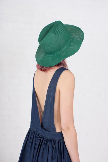 Reinhard Plank Laila Open Straw Hat in Green