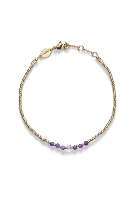 Anni Lu Bead and Gem Bracelet - Pink Lavender
