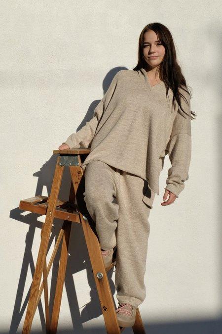 Lauren Manoogian Collar Pullover - Oak Slub