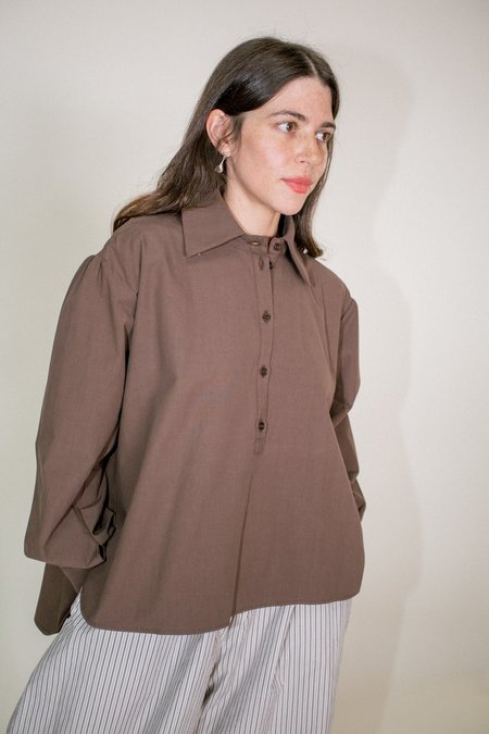 CAWLEY STUDIO Alice Shirt - Chocolate