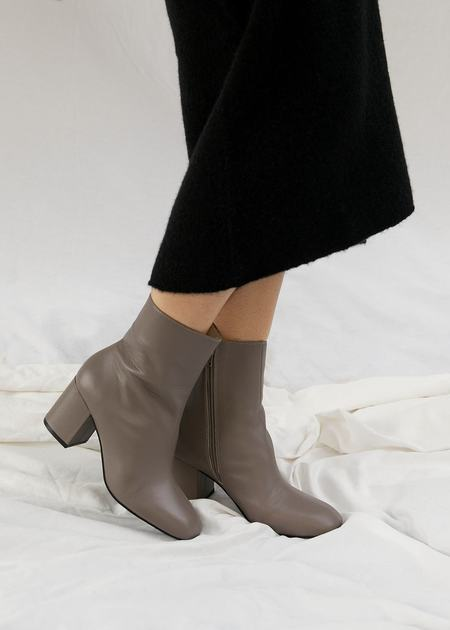 """""""INTENTIONALLY __________."""" Janetta Boots - Taupe"""
