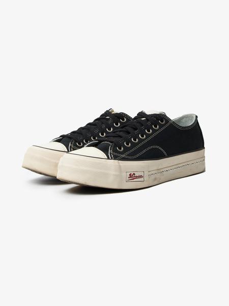 [Pre-Loved] Visvim M Black Massive Sole Low Top Sneakers-Black