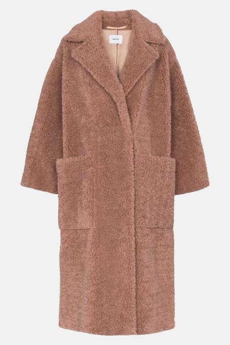 Nanushka Rose Imogen Faux Fur Coat - Pink