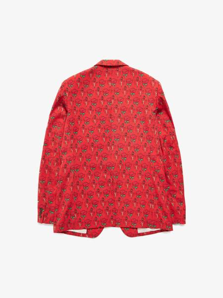 [Pre-Loved] Comme Des Garcons Homme Plus Red Rose Printed Suit Jacket-Red
