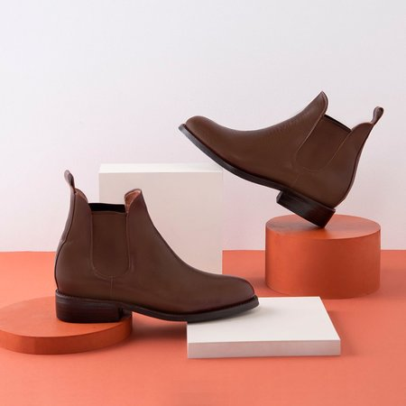 DENISE Chelsea Boot Brown Tire