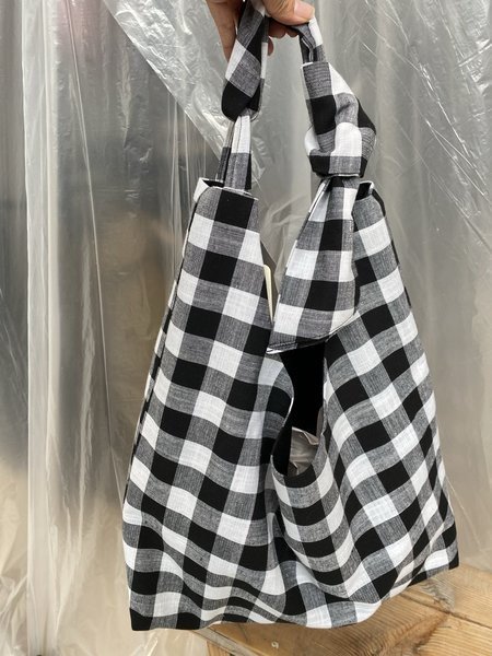 BRONZE AGE FOREVER TOTE - BLACK GINGHAM
