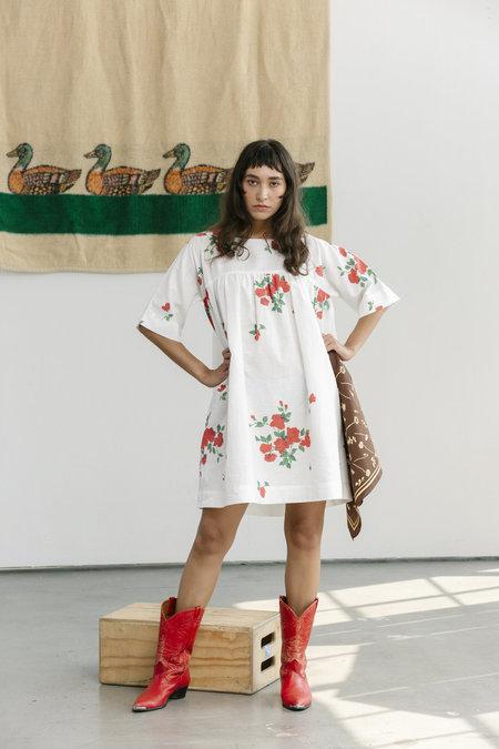 Carleen Short Tent Dress - Roses