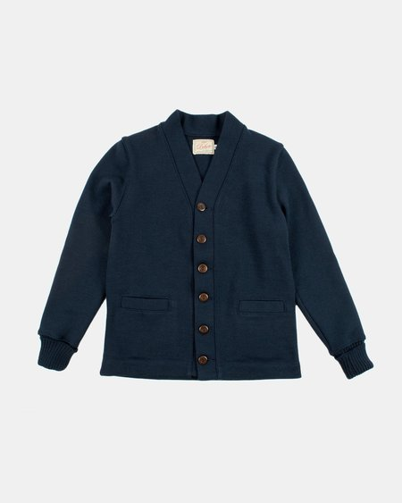 Dehen Wool Classic Cardigan Sweater - Dark Navy