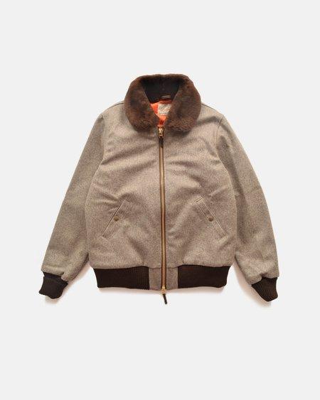 Dehen Club Jacket - Oatmeal/Brown Mouton