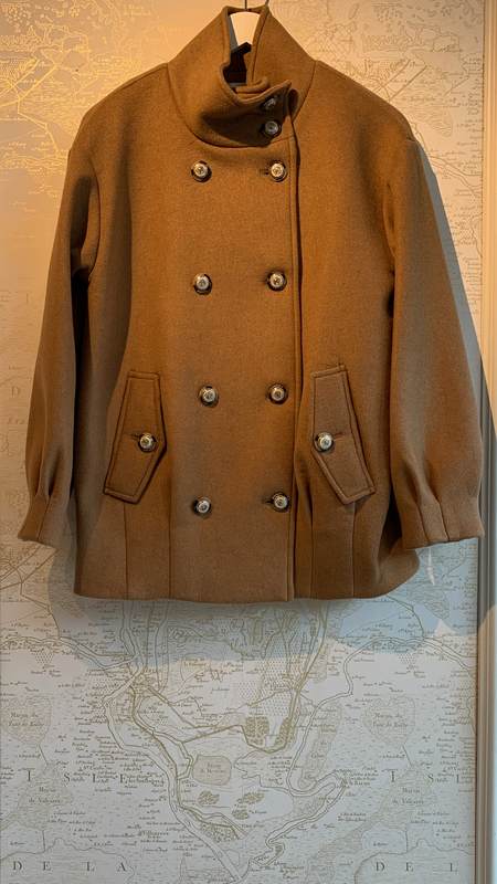 Veronica Beard Cassie Double Breasted Coat - Brown